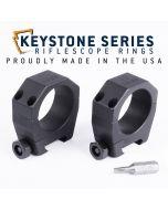 "EGW 34mm Tube Keystone Scope Rings .850"" Low 62200"