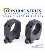 "EGW 34mm Tube Keystone Scope Rings .990"" Medium 62201"
