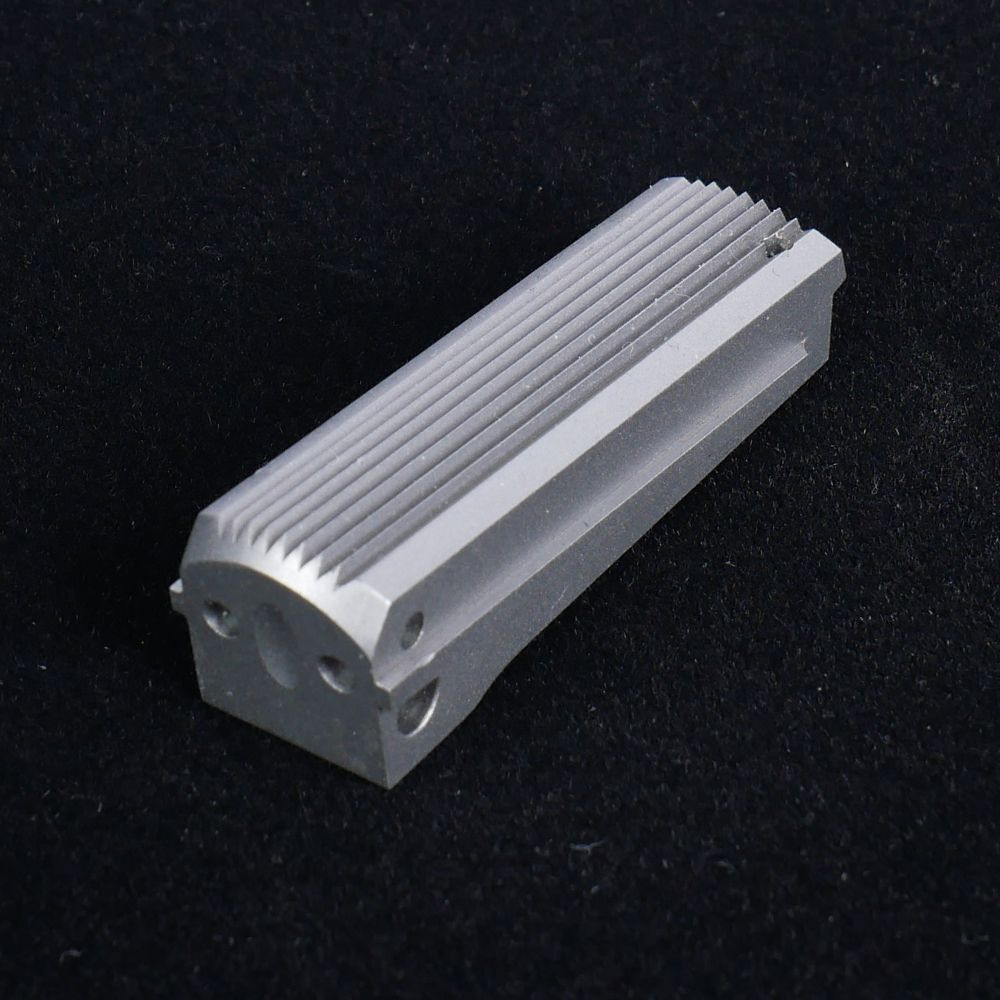 Mainspring Housing Flat Serrated Cut for Lanyard Loop Stainless Steel