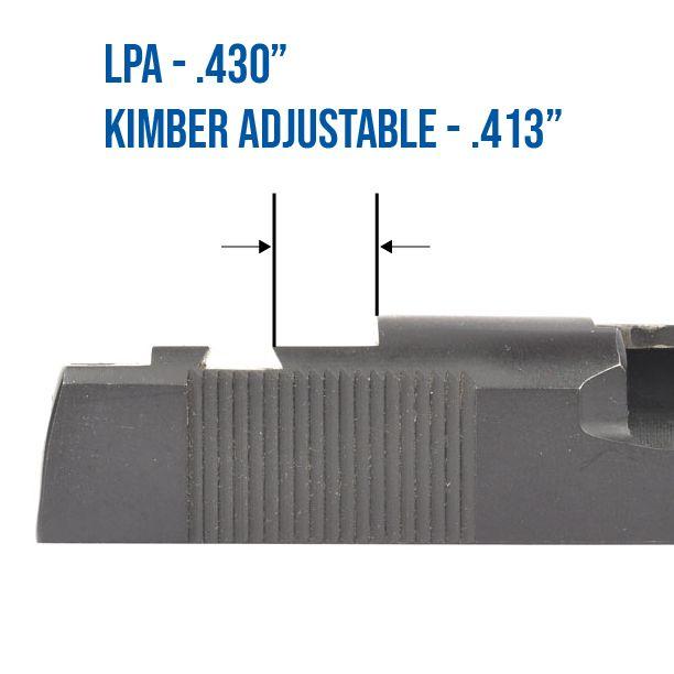 Trijicon RMR / SRO, Holosun 407c / 507c Mount for Kimber 1911 Adjustable