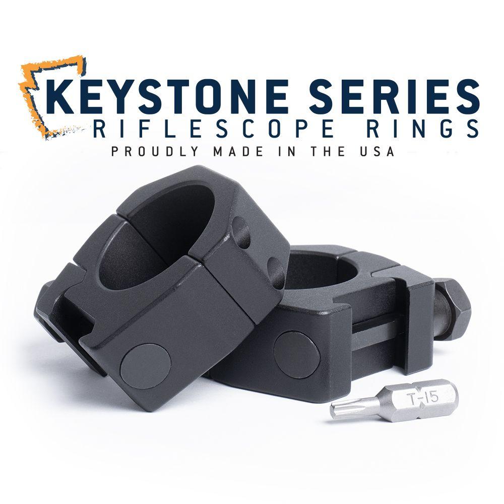 EGW 30mm Tube Keystone Scope Rings .850