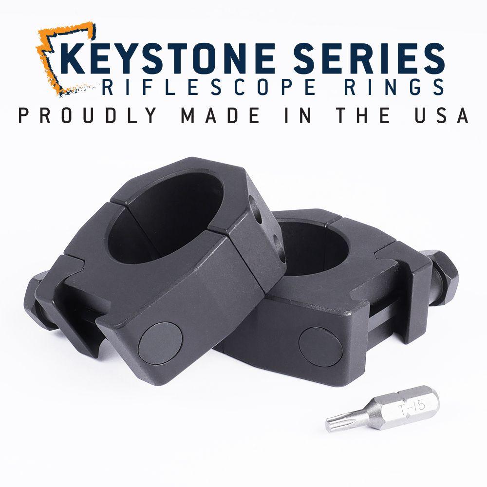EGW 30mm Tube Keystone Scope Rings .990