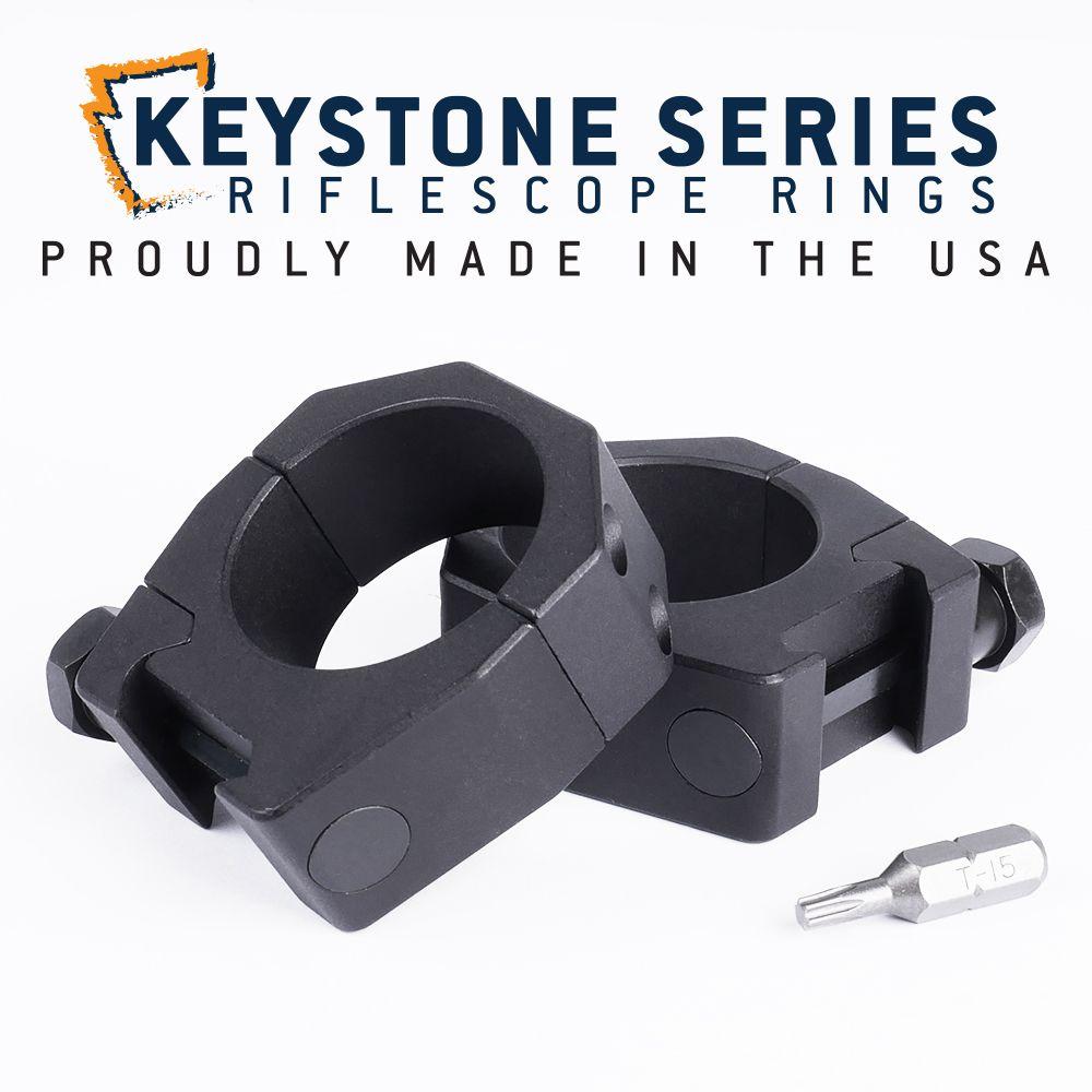 EGW 34mm Tube Keystone Scope Rings .850