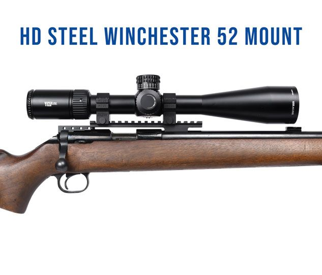Winchester 52 Target (fits Kimber 82C, 82G, Rem 37) Picatinny Rail 0 MOA