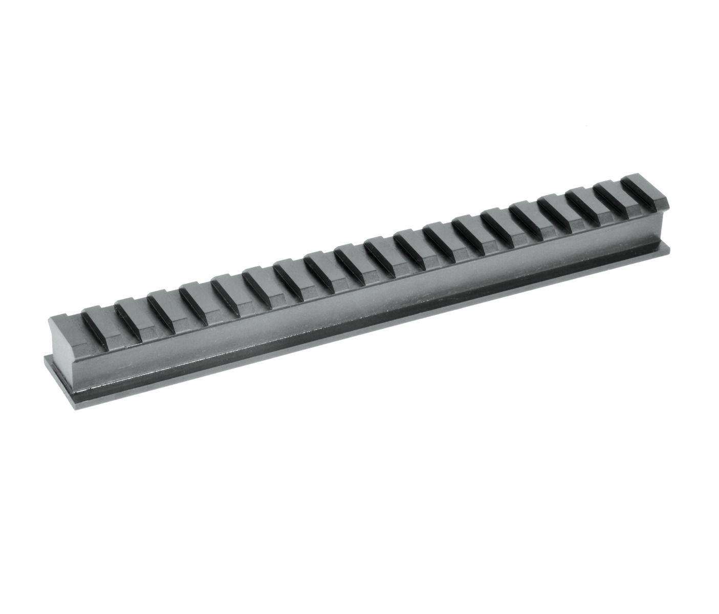 HD Picatinny Rail Blank 7075 Aluminum Black Anodized