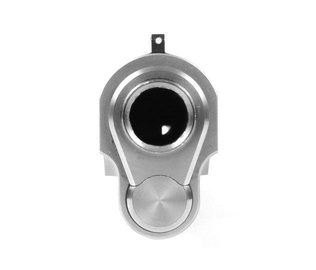 Barrel Bushing and Monogrammed Spring Plug Set Blue - .699 OD Gunsmith Fit Angle Bore