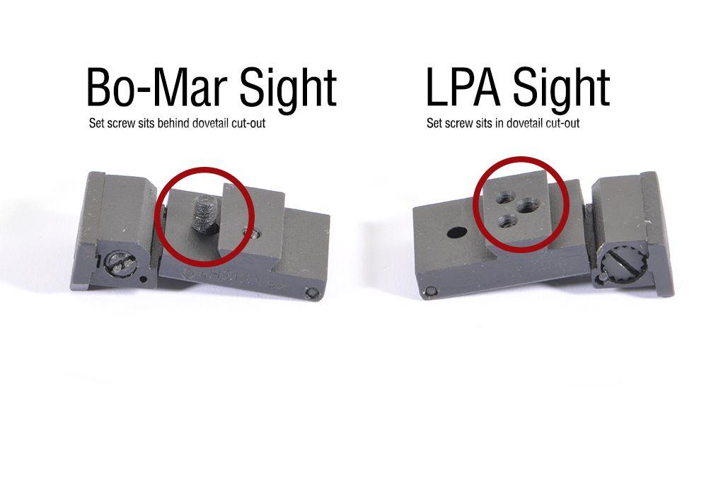 Silverline Adj Rear Sight (Fits LPA Para Springfield)