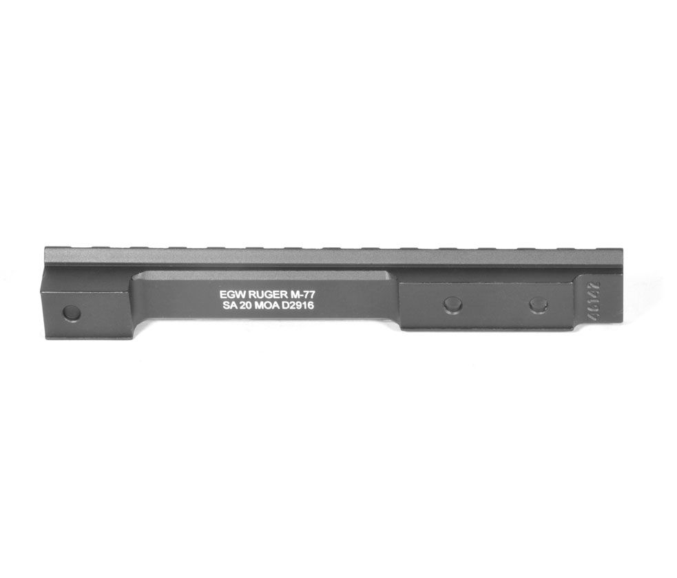 Ruger M77 Short Action Picatinny Rail (MUST DRILL & TAP RECEIVER) 0 MOA