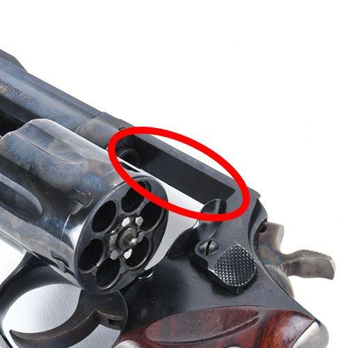 Silver S&W Revolver Picatinny Rail