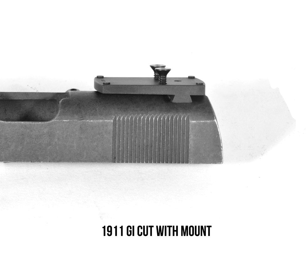 DeltaPoint Pro GI 1911 Sight Mount (fits Sheild RMS/RMSc/SMS, JPoint, Redfield Accelerator, and Optima)