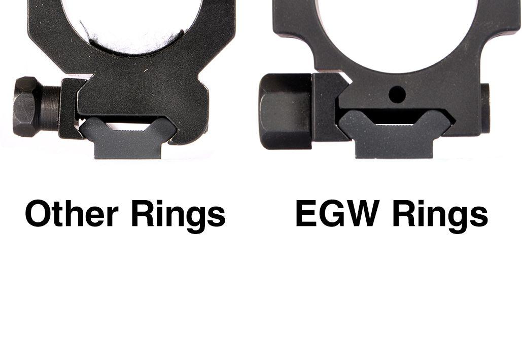 EGW HD 30 MM Tactical Aluminum Rings .990