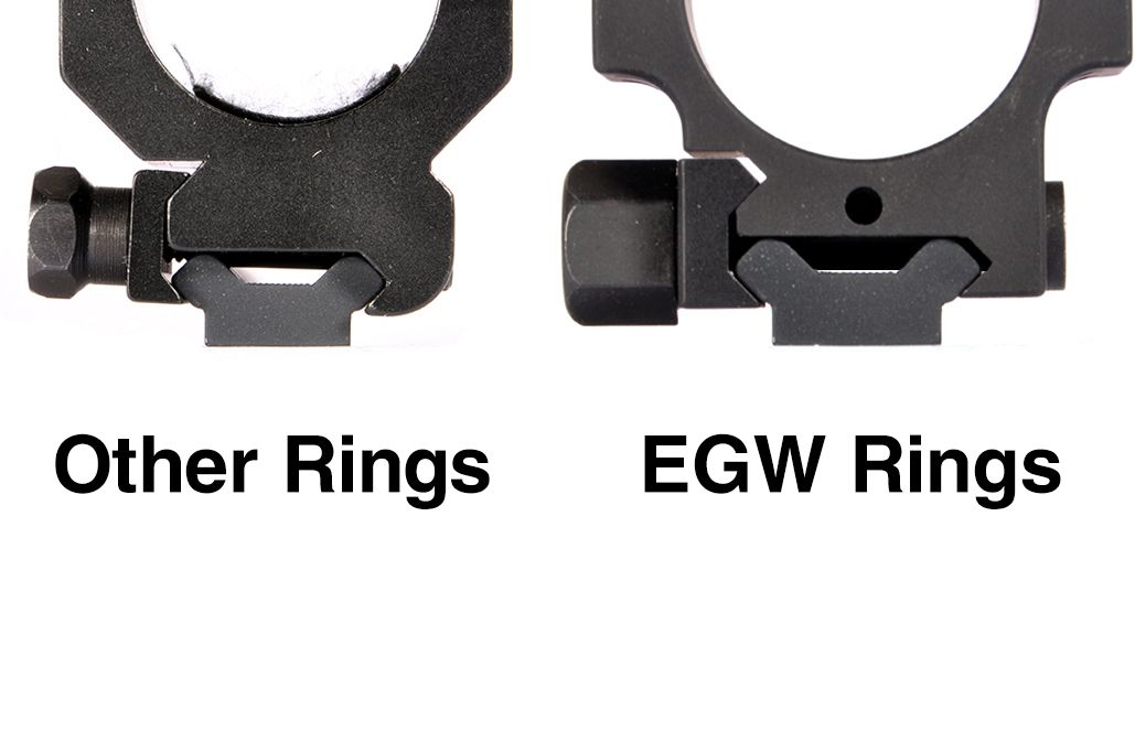 EGW HD 30 MM Tactical Aluminum Rings 1.275