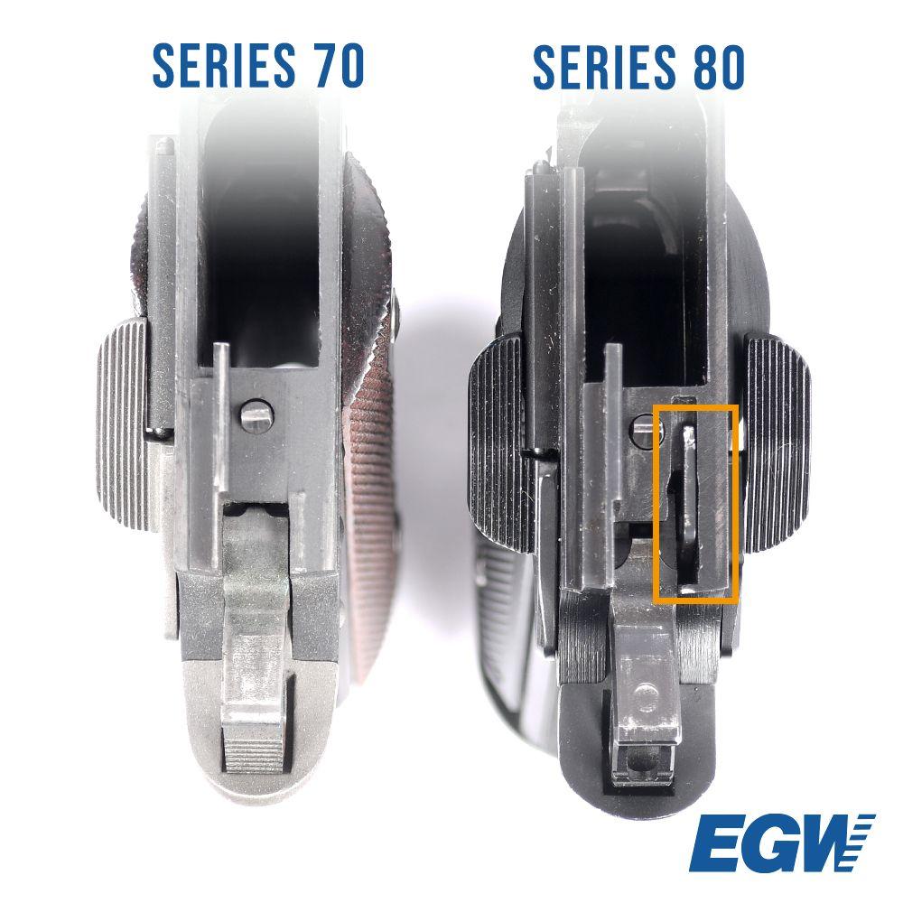 Oversized Firing Pin Stop Series 70 .45 ACP SS