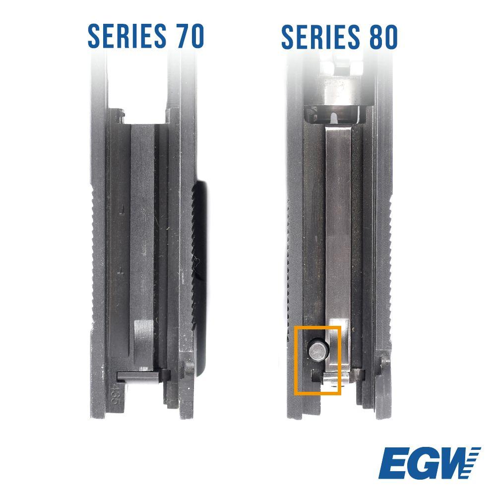 Oversized Firing Pin Stop Series 70 .45 ACP Blue
