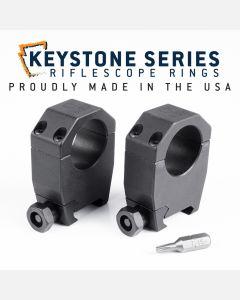 """EGW 1"""" Tube Keystone Scope Rings 1.275"""" High 62002"""