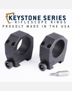 "EGW 30mm Tube Keystone Scope Rings .990"" Medium 62101"
