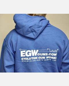EGW Men's Blue Logo Hoodie - L