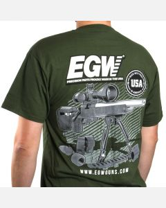 EGW Long Shot O.D. Green T-Shirt - 2X Large