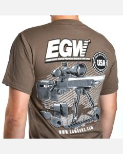 EGW Long Shot Tan T-Shirt - Medium