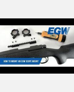 Silver Smith & Wesson Revolver UNDRILLED Picatinny Rail 0 MOA
